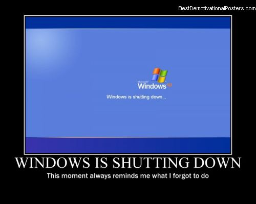 Windows Is Shutting Down