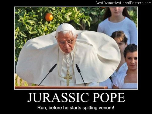 Jurrassic-Pope-Run,-before-he-starts-spitting-venom!