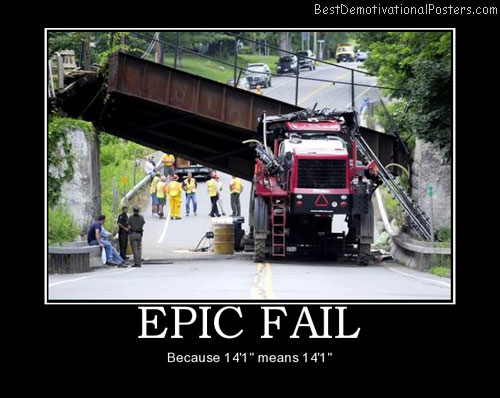 Epic Fail – Becouse 14 means 14