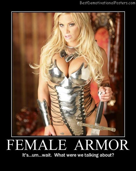 Female-armor-Best-Demotivational-poster