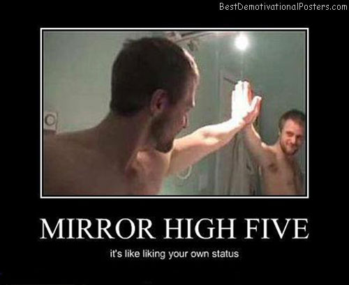 Mirror-high-five-Best-Demotivational-poster