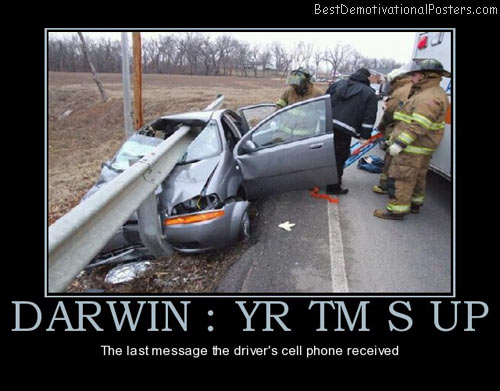 Darwin yr tm s up the last message the driver s cell phone