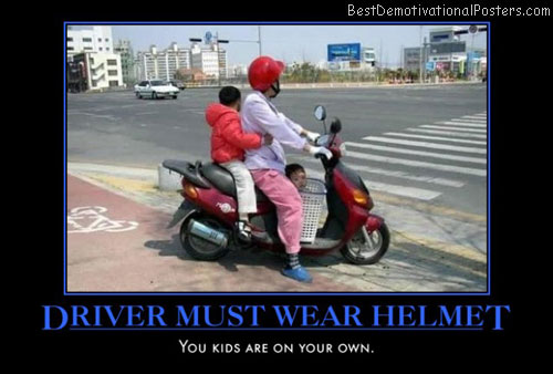 Driver Must Wear Helmet