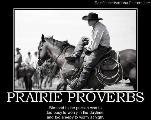 Prairie Proverbs