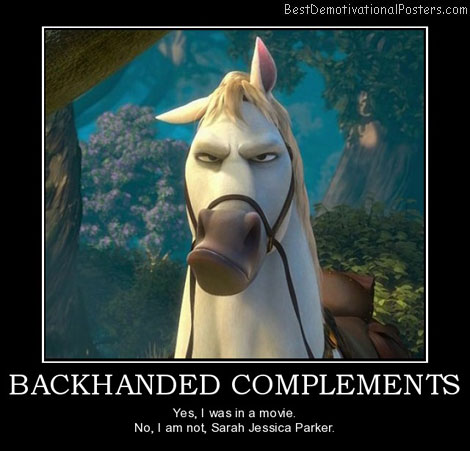 backhanded-complements-insulted-horse-sarah-parker-best-demotivational-posters