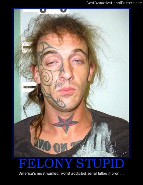 felony-stupid-worst-tattoo-addict-best-demotivational-posters