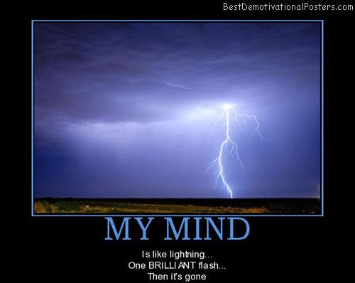 My Mind Is Like Lightning
