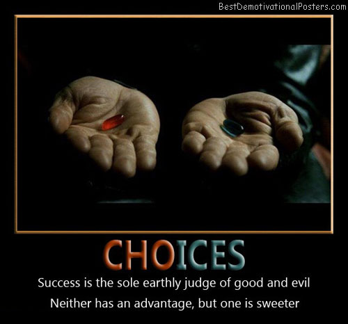 which-to-swallow-good-vs-evil-choices-best-demotivational-posters