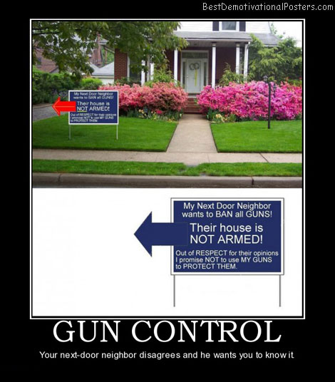 Gun control neighbor arms best demotivational posters