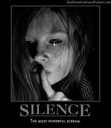 silence-powerful-scream-best-demotivational-posters