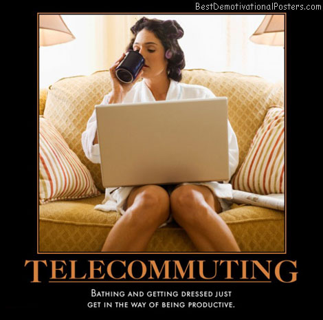 video-conference-telecommuting-laptop-woman-best-demotivational-posters