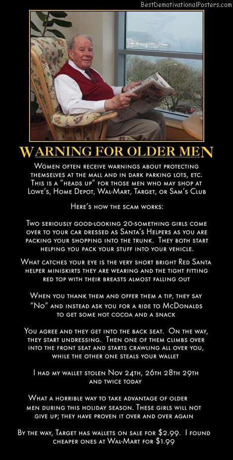 Warning For Older Men
