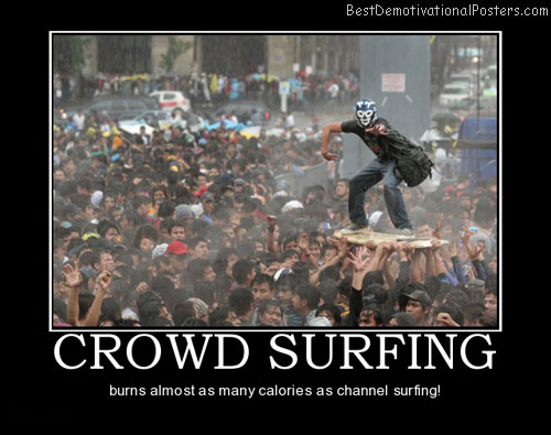 crowd-surfing-mask-best-demotivational-posters
