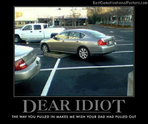 dear-idiot-parking-best-demotivational-posters