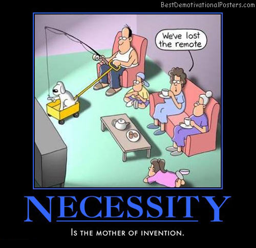 necessity-tv-remote-family-humor-best-demotivational-posters