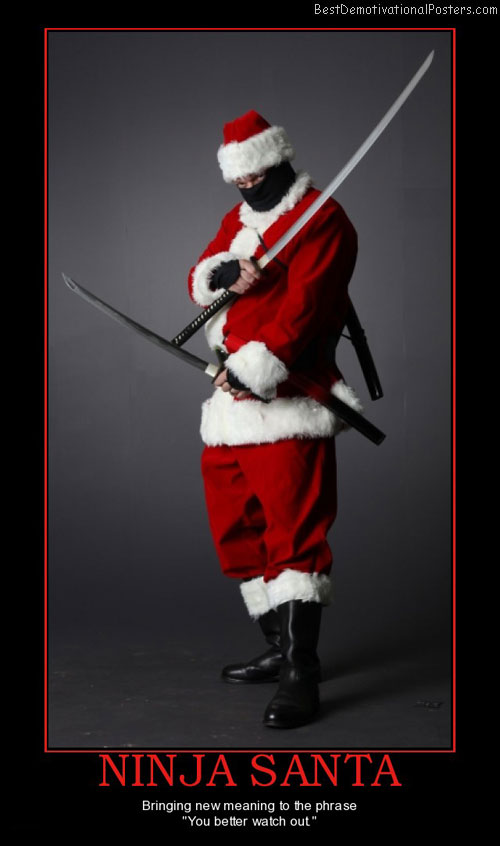 ninja-santa-christmas-best-demotivational-posters