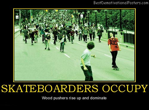 Skateboarders Occupy
