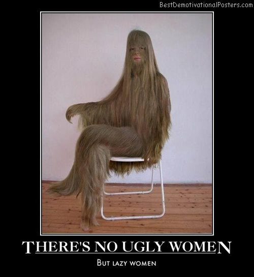 theres-no-ugly-women-lazy-best-demotivational-posters