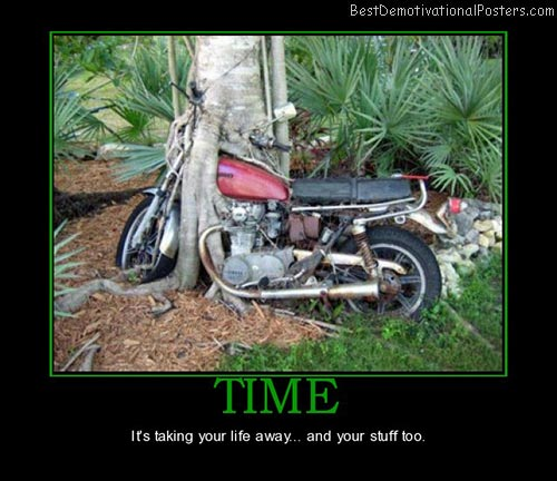 time-motorcycle-tree-forest-nature-best-demotivational-posters