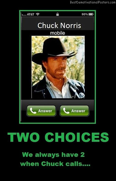 two-choices-when-chuck-calls-best-demotivational-posters