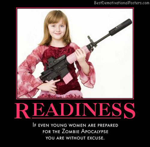 zombie-apocalypse-girl-pink-gun-best-demotivational-posters