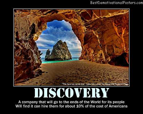 Discovery beautiful places demotivational poster