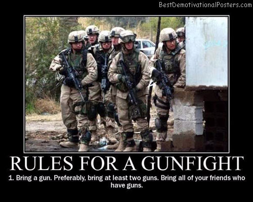 Rules-for-a-gunfight-best-demotivational-posters