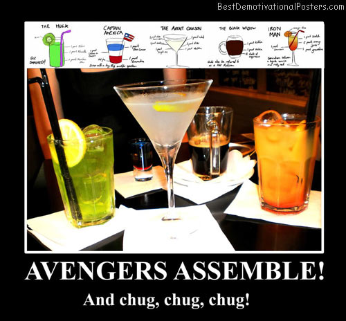 avengers assemble cocktails best-demotivational-posters