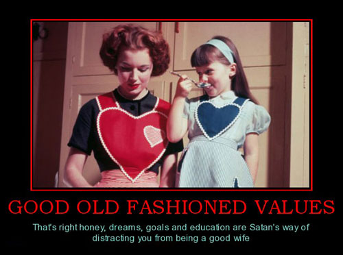 good-old-fashioned-values-mother-daughter-distracting-satans-best-demotivational-posters