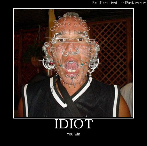 idiot-piercing-best-demotivational-posters