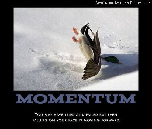 duck-moving-forward-best-demotivational-poster