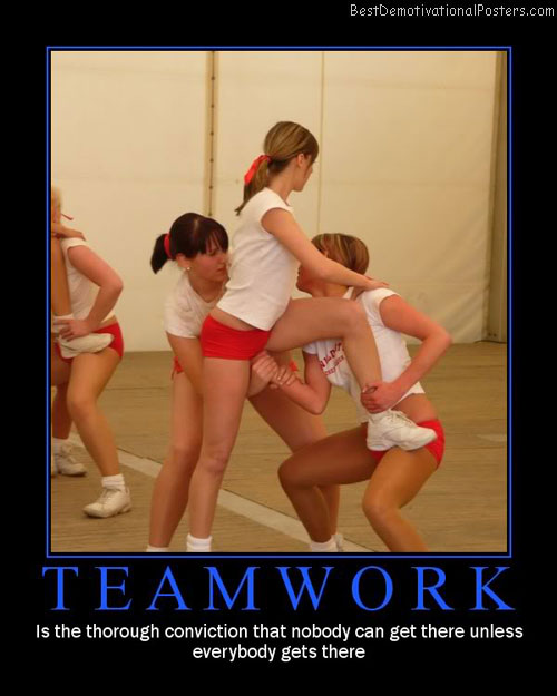 team work girls best-demotivational-posters