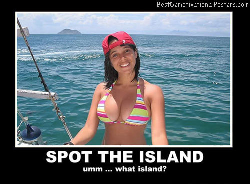 spot the island best demotivational posters