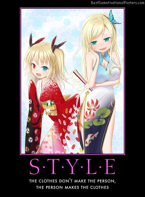 style clothes person anime