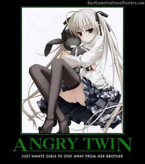 Angry Twin anime