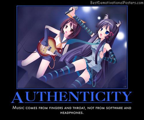 Authenticity music anime