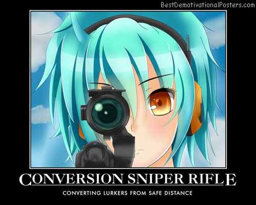 Conversion Sniper Rifle anime
