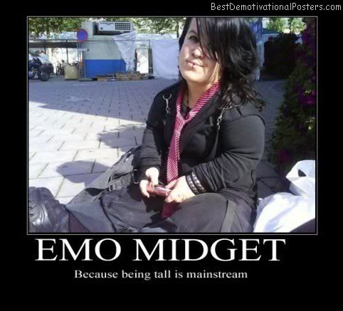 Emo Midget Best Demotivational Posters