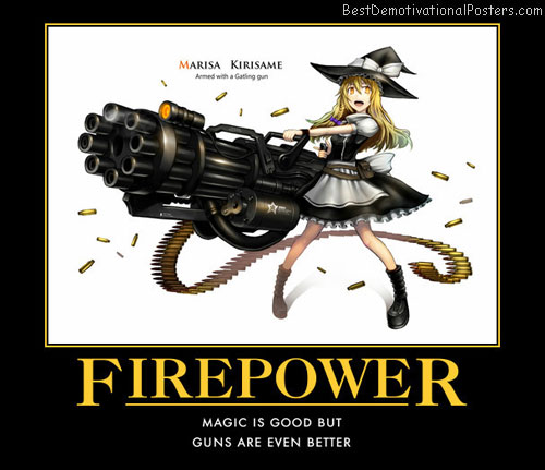 Firepower Big guns anime