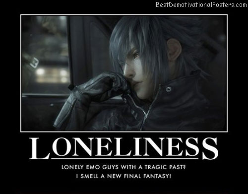 Loneliness emo guys anime