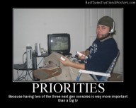 Priorities Game Consoles