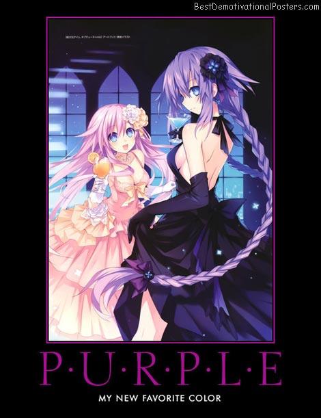 Purple Hair anime