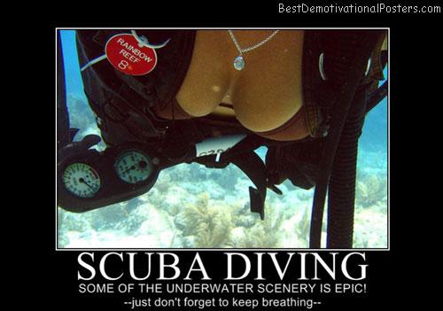 Scuba Diving Best Demotivational Posters
