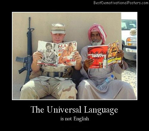Universal Language Best Demotivational Poster