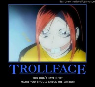 Trooll Face anime