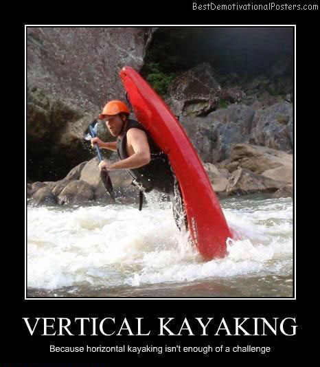 Vertical Kayaking Poster