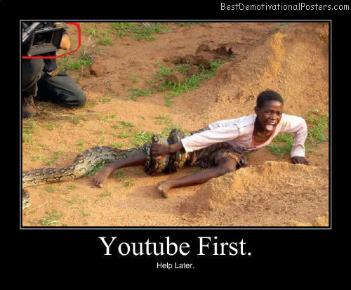 Youtube First Best Demotivational Poster