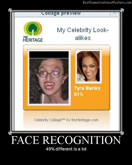 face recognition Best Demotivational Posters