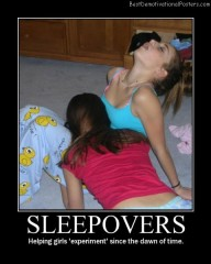 sleepovers experiment Best Demotivational Posters