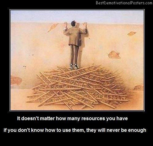 How Many Resources You Have Best Demotivational Posters